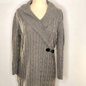 Calvin Klein Gray Knit Dress